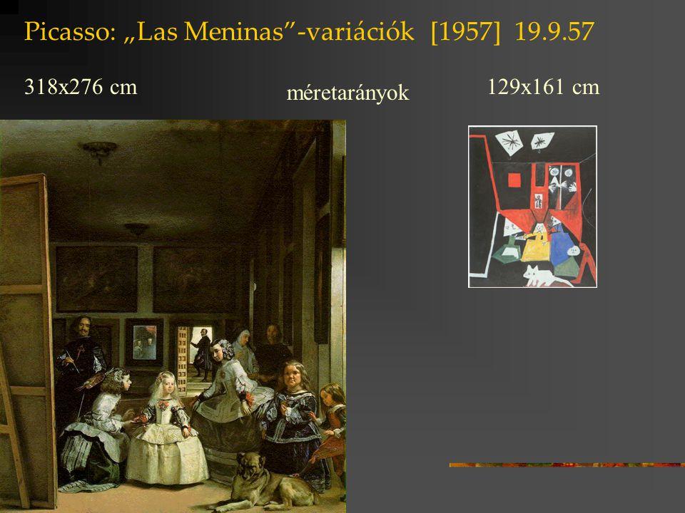 """Picasso: """"Las Meninas -variációk [1957] 19.9.57"""